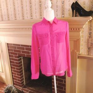 American Eagle Outfitters Sheer Blouse XS/TP NWT